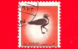 AJMAN - Usato - 1972 - Uccelli - Birds - Formato Piccolo - 3 Arancio - Ajman