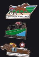 65300-Lot De 3 Pin's.Courses Hippiques.équitation.Cheval.Jeux.PMU - Games