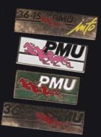 65302-Lot De 4 Pin's.Courses Hippiques.équitation.Cheval.Jeux.PMU - Games