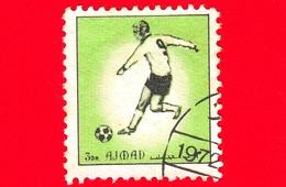 AJMAN - Usato - 1972 - Sport - Calcio - Football - Giocatori Di Calcio - Formato Piccolo - 3 Verde - Ajman