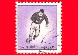 AJMAN - Usato - 1972 - Sport - Calcio - Football - Giocatori Di Calcio - Formato Piccolo - 3 Viola - Ajman