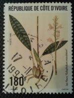 Côte D'Ivoire 1996 Fleur Eulophedium Obli YT 967 Michel 1159 - Côte D'Ivoire (1960-...)