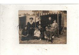 Pornichet (44) : GP De Touristes à La Plage Près D'une Cabine De Toile Personnes Nommées Env 1913 (animée) CP PHOTO RARE - Albert