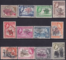 GHANA 1957-58 SG 170-81 Compl.set Used Opt. GHANA INDEPENDENCE 6th MARCH 1957. - Ghana (1957-...)