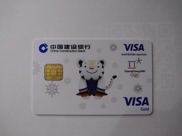 China, Winter Olympic Games, Pyeongchang 2018,  (1pcs) - Cartes De Crédit (expiration Min. 10 Ans)