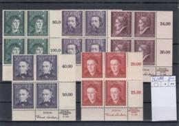 Reich Michel Kat.Nr. GG  Postfr/** 96/100 Vierer URE - Besetzungen 1938-45