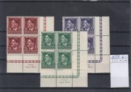 Reich Michel Kat.Nr. GG  Postfr/** 117/119 Vierer URE - Besetzungen 1938-45