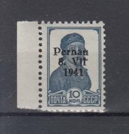 Reich Michel Kat.Nr.  Estland Pernau  Postfr/** 6II - Besetzungen 1938-45