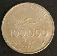 TURQUIE - TURKEY - 100000 LIRA 2000 - KM 1078 - MUSTAFA KEMAL ATATÜRK - Turchia