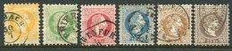 AUSTRIA 1867 Franz Joseph Coarse Print Set To 25 Kr., Fine Used.  Michel 35-40 I - 1850-1918 Impero