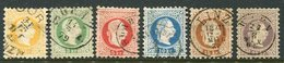 AUSTRIA 1874 Franz Joseph Fine Print Set To 25 Kr., Fine Used.  Michel 35-40 II - 1850-1918 Impero
