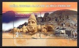 2019 TURKEY NATURAL PROTECTION AREAS NATIONAL PARKS ADIYAMAN SOUVENIR SHEET MNH ** - 1921-... Repubblica