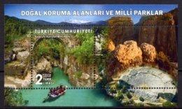 2019 TURKEY NATURAL PROTECTION AREAS NATIONAL PARKS ANTALYA SOUVENIR SHEET MNH ** - 1921-... Repubblica