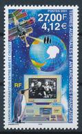 TAAF  -  2001  ,  Funkverbindung Zwischen MIR Und Crozet - Terre Australi E Antartiche Francesi (TAAF)