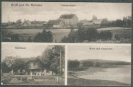 Pologne Polska Gruss Aus Gross Kurvien Karwica. Niefersee Gasthaus 1915 - Polonia