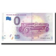 Allemagne, Billet Touristique - 0 Euro, Germany - Sinsheim - Musée Automobile - Deutschland
