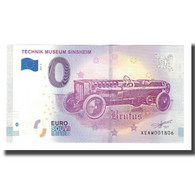 Allemagne, Billet Touristique - 0 Euro, Germany - Sinsheim - Musée Automobile - Allemagne