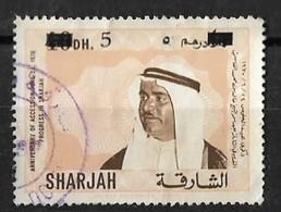 UAE SHARJAH 1970 Error Double Overprinted Variety 5 Dirham Overprinted Anni Of Accession Prog - Sharjah