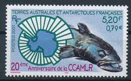 TAAF  -  2001  ,  20 Jahre Abkommen über Erhaltung Der Meeressschätze (CCAMLR)  -  Eismeerfisch - Terre Australi E Antartiche Francesi (TAAF)