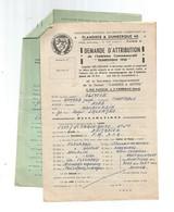 Trajet D'un Soldat Français Du 27-08-1939 Au 04-06-1940-prisonnier à Dunkerque - Documents