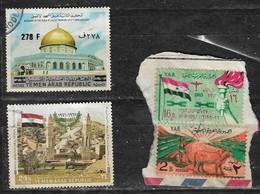 YEMEN OVERPRINTED 75 On 7 B Very Rare BURNING OF THE AQSA MOSQUE 2ND ANNIVERSARY 1971 9th Anniversary Yemen  Revolution - Jemen