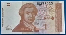 REPUBLIKA HRVATSKA ( CROATIE ) , 1 Dinar , HRVATSKI DINAR , 1991 - Croacia