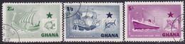 GHANA 1957 SG 182-84 Compl.set Used Black Star Shipping Line - Ghana (1957-...)
