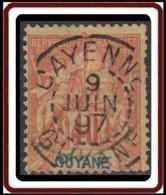 Guyane Française 1886-1915 - N° 39 (YT) N° 38 (AM) Oblitéré De Cayenne (1897). - Guayana Francesa (1886-1949)
