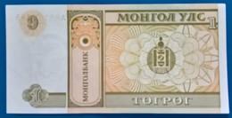MONGOLIA- 1 Tugrik- 1993-UNC - Croacia