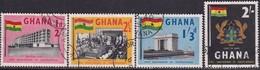 GHANA 1958 SG 185-88 Compl.set Used First Anniv Of Independence - Ghana (1957-...)