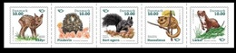 Denmark 2020, NORDEN Mammals, MNH Stamps Stripe - Ongebruikt
