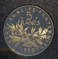5 Francs Semeuse 1999 ( 10000 Seulement), BE, FDC Du Coffret. - J. 5 Franchi