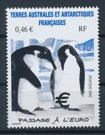 TAAF  -  2002  ,  Pinguine Bebrüten €-Zeichen - Nuovi