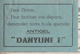 """Facture 1938 / Ets Thevenin Ducrot / 25 Pontarlier Doubs / Vignette Huile Antigel """"Danyline E"""" - Cars"""