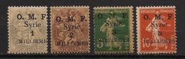 Syrie - 1920 - N°Yv. 25 à 28 - OMF 4 Valeurs - Neuf Luxe ** / MNH / Postfrisch - Syria (1919-1945)