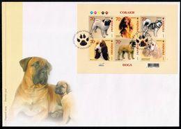 Ukraine 2007 MiNr.  865 - 870 (Block 60) DOGS  Hunderassen (I).  S/sh  FDC 4,10 € - Ukraine