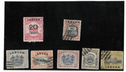 LABUAN  - Lot 7 Timbres - Groot-Brittannië (oude Kolonies En Protectoraten)