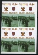 België 3395 ON - Koreaanse Veldtocht - La Guerre De Corée - Vrijwilligerskorps - Corps De Volontaires - In Blok Van 4 - Belgique