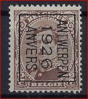 Koning Albert I Nr. 136 (type Niet Nagezien) België Typografische Voorafstempeling Nr. 127 B   ANTWERPEN  1926  ANVERS ! - Préoblitérés