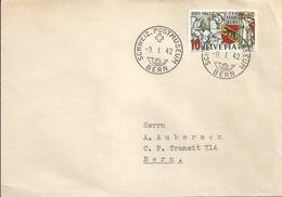 Brief  Schweizer Postmuseum Bern  (ungezähnt ??)       1942 - Covers & Documents