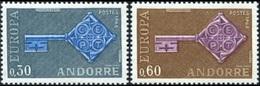 CEPT / Europa 1968 Andorre Français N° 188 Et 189 ** - Europa-CEPT