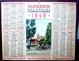 CALENDRIER 1948 DE LA POSTE CYCLO TOURISME TRES BEL ETAT - Calendars