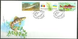 Ukraine 2007 MOLDOVA Joint Issues FISHES Dniester Fauna  FDC 3.80 € - Ukraine