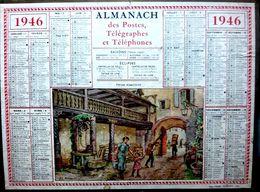 CALENDRIER 1946 DE LA POSTE  FERMA ALSACIENNE COMPLET DES FEUILLETS TRES BEL ETAT - Calendars