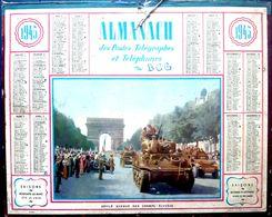 CALENDRIER 1945 DE LA POSTE  DEFILE DE LA VICTOIRE  COMPLET DES FEUILLETS BEL ETAT - Calendars