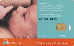 """Cape Verde,CPV-31B, UNICEF - Para Um Bom... - New Logo, 2 Scans.   Control Code Starting With """"00 009"""" - Capo Verde"""