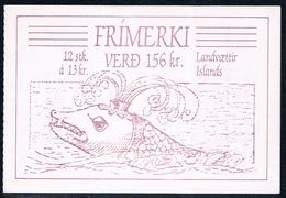 Islande - Les 4 Génies Tutélaires Des Armoiries Islandaises C 626 (année 1987) ** - Markenheftchen