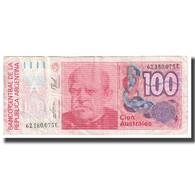 Billet, Argentine, 100 Australes, KM:327c, TTB - Argentina
