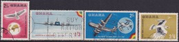 GHANA 1958 SG 193-96 Compl.set Used Inauguration Of Ghana Airways - Ghana (1957-...)
