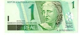 Brazil P.251 1 Real 2003  Unc - Brazil